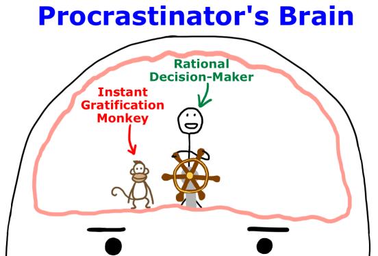 Le cerveau du procrastinateur de Tim Urban