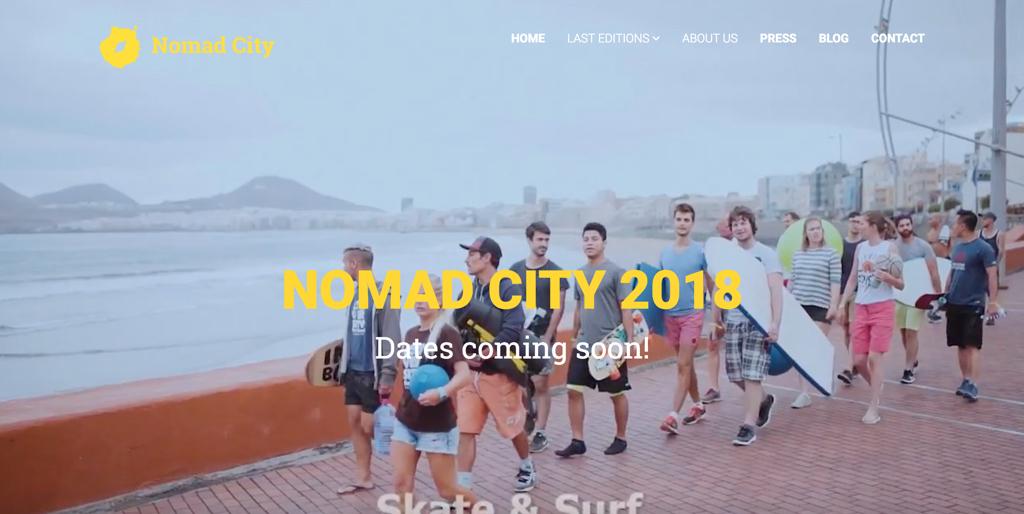Page d'accueil du site www.nomadcity.org