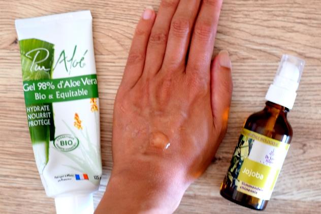 Sérum biologique pas cher à base de gel d'aloe vera et d'huiles végétale
