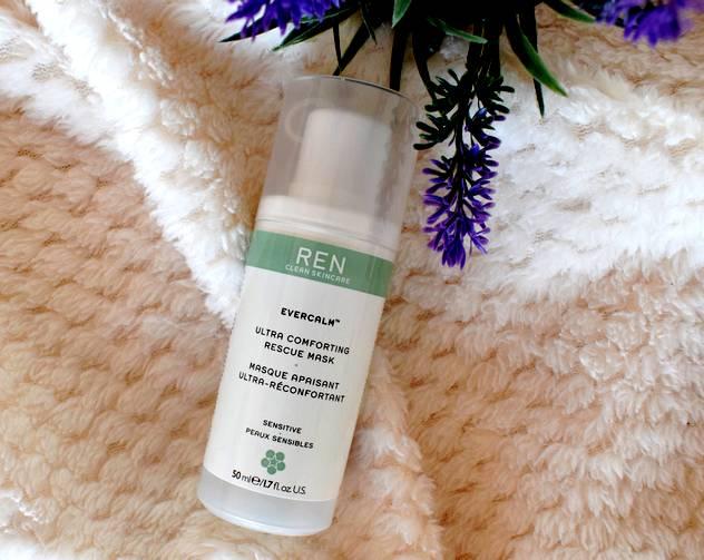 Masque hydratant visage bio Evercalm Ren : masque apaisant ultra réconfortant