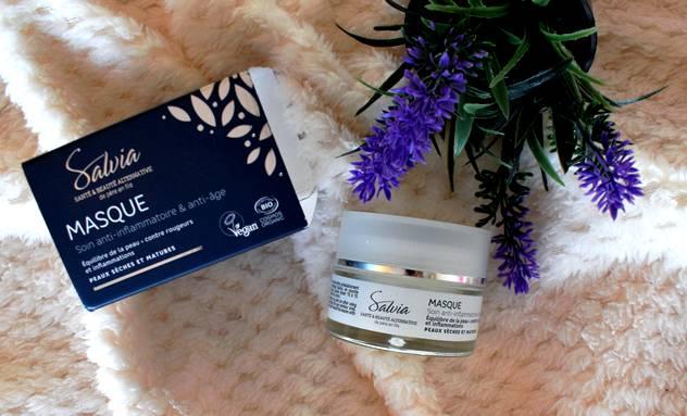 Masque hydratant visage bio Salvia soin anti-inflammatoire et anti-âge