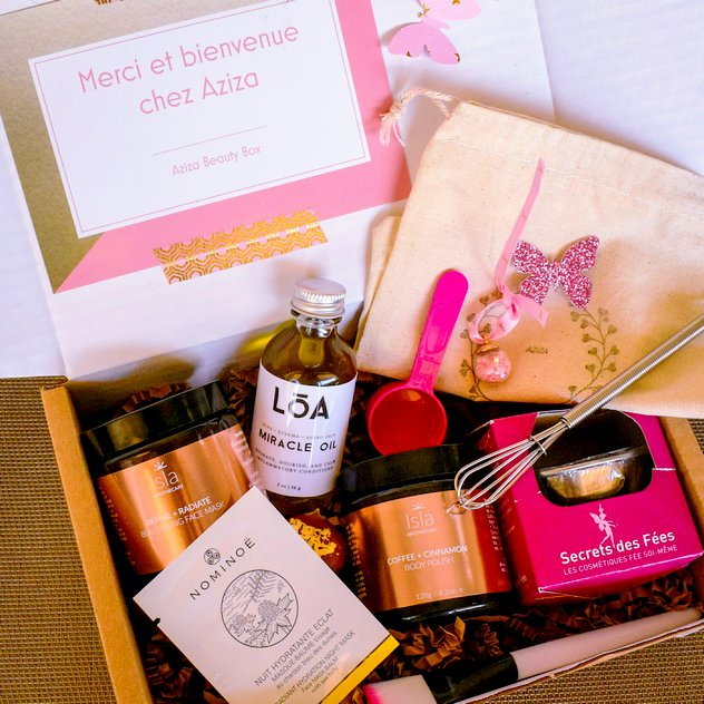 Box beauté bio vegan cruelty free Aziza Beauty Box Octobre 2017