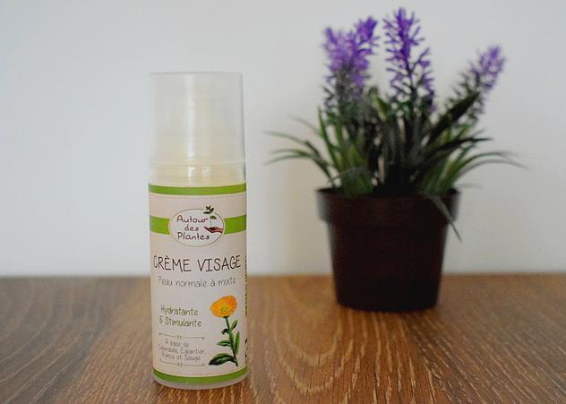 Mes produits de beauté favoris bio et naturels en 2017: crème visage Autour des Plantes