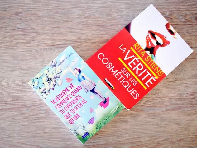 Tag mes favoris beauté 100% naturels livres : La vérité sur les cosmétiques de Rita Stiens, Ta deuxième vie commence quand tu comprends que tu n'en as qu'une de Raphaelle Giordano