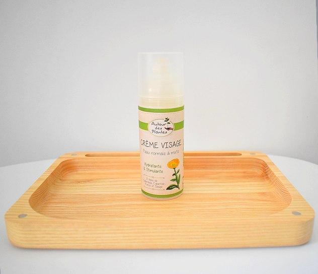 Autour des Plantes : Crème visage bio pour peaux normales à mixtes