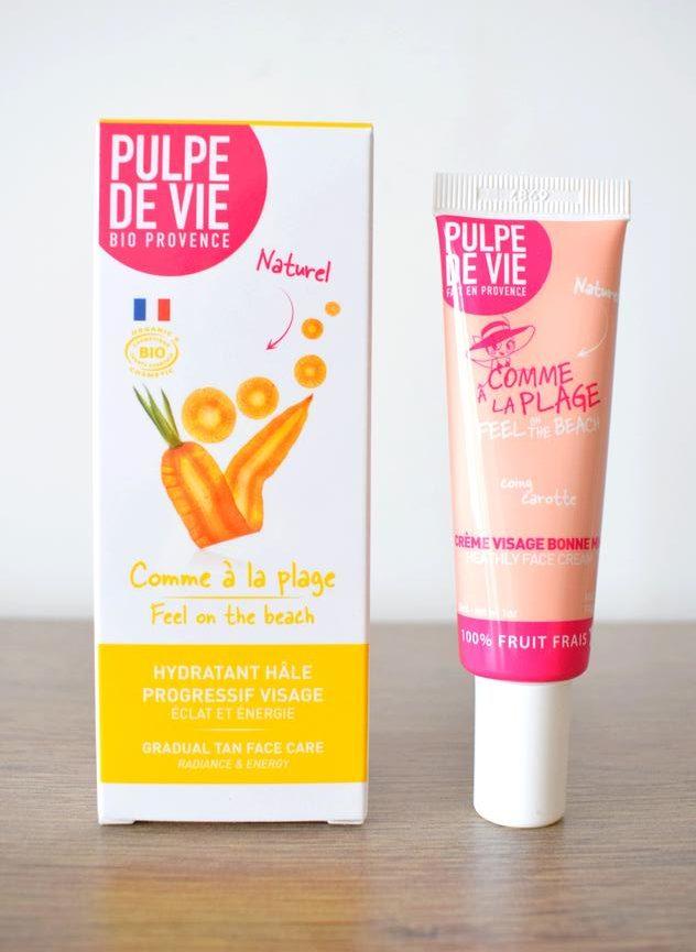creme autobronzante visage pulpe de vie comme a la plage e1530545660410 - Passer un bel été au naturel : crèmes solaires et autobronzants bio