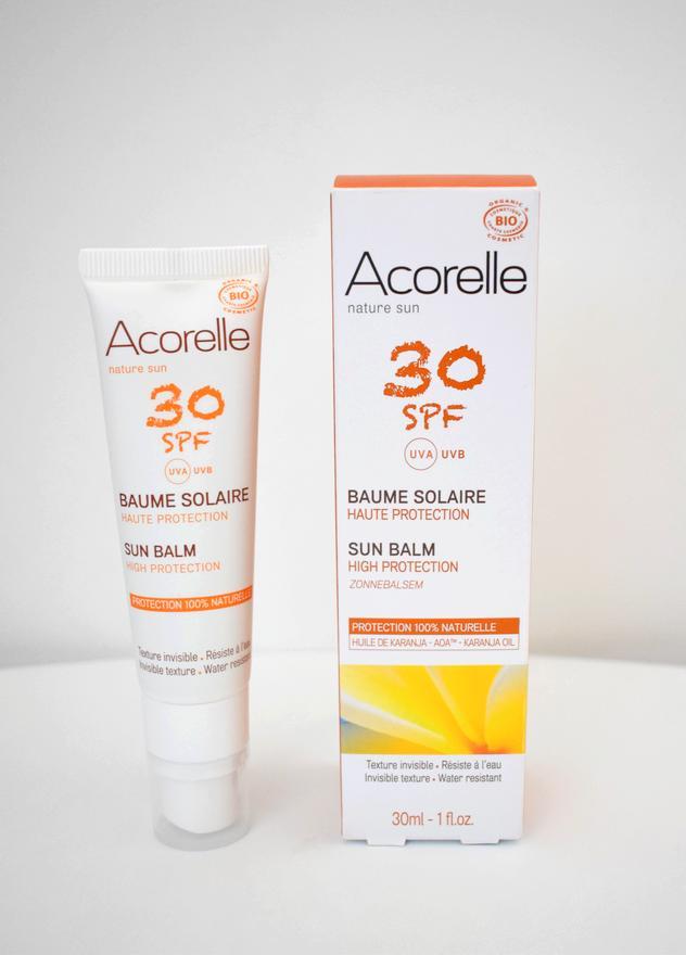 creme solaire bio acorelle spf30 - Passer un bel été au naturel : crèmes solaires et autobronzants bio