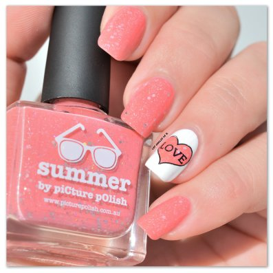 Stamping Master Corail & Blanc Picture Polish Summer (6)