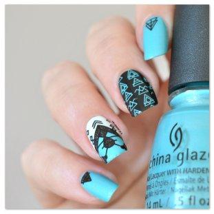 Stamping Master - Turquoise & Noir - Moyou London Minimal (3)