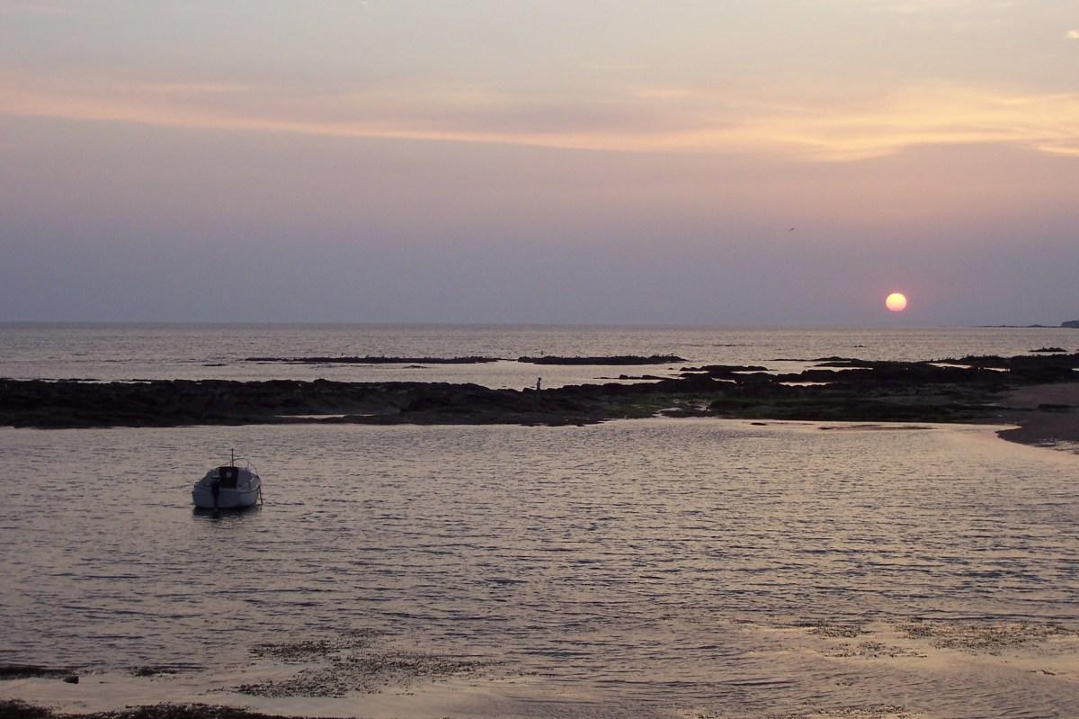 Soleil couchant sur Quimiac, Loire-Atlantique
