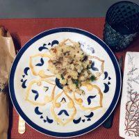 Pommes de terre rissolées aux pleurotes et lardons
