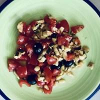 Salade de tomates courgettes gouteuse