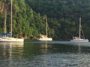 Bateaux au Mouillage de Cumberland Bay