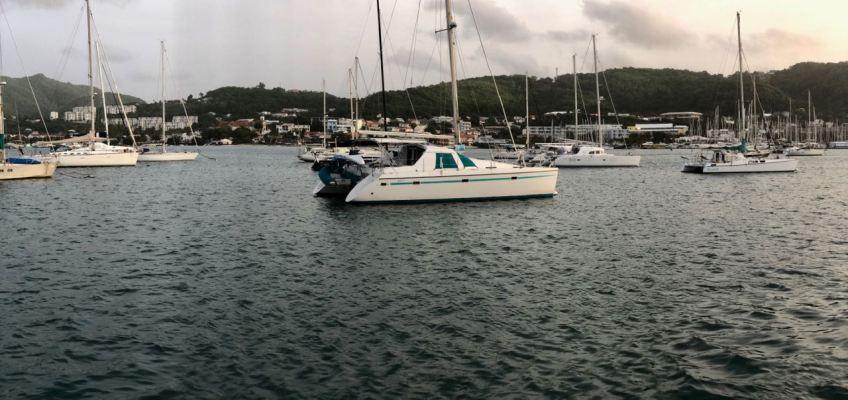 Mouillage sur bouées du Marin (Martinique)