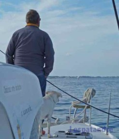 Le futur équipage contemple la mer