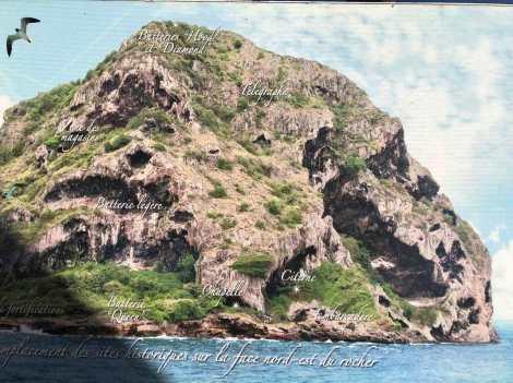 Le rocher du Diamant sous Napoléon