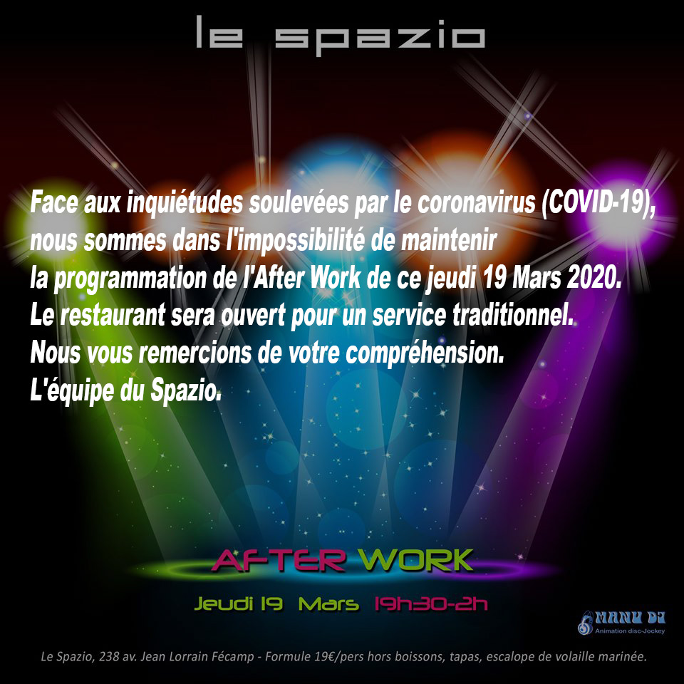 After work du Jeudi 19 mars 2020