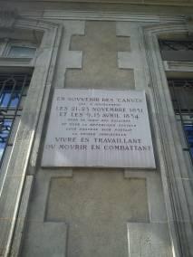 Plaque Canuts Lyon