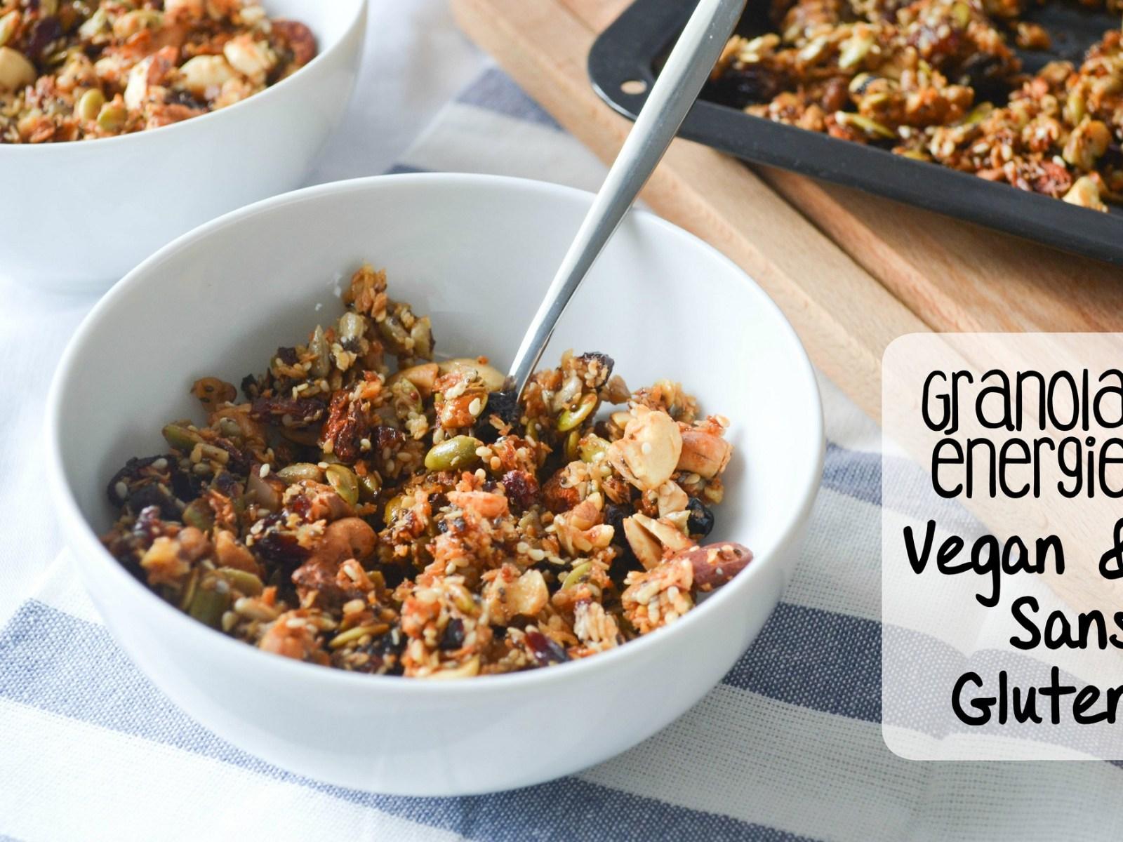 Granola vegan & sans gluten