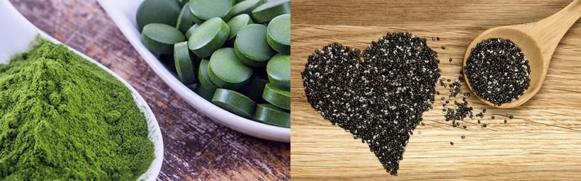 Spiruline & Graines de chia : super-aliments santé et beauté !