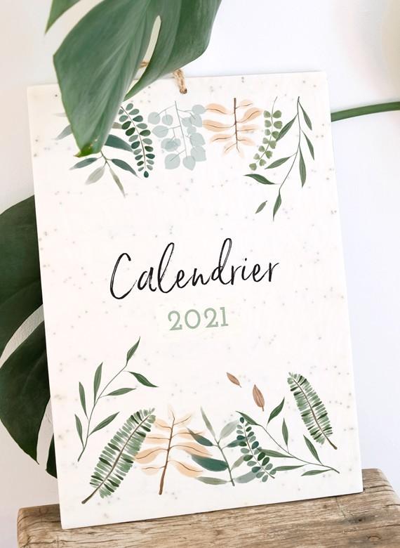 calendrier ensemencé de graines de fleurs