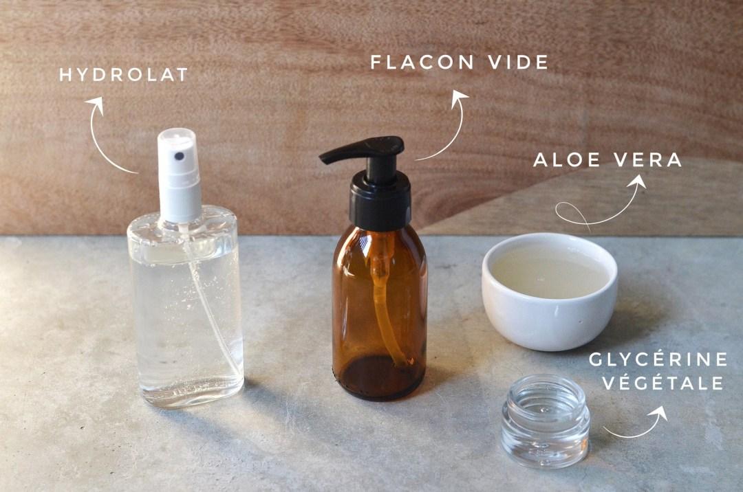 ingrédients et matériel de la recette