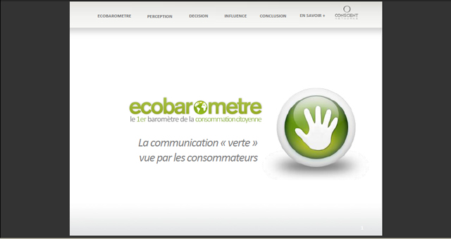 "La communication ""verte"" vue par les consommateurs - Greenwashing or not greenwashing ?"