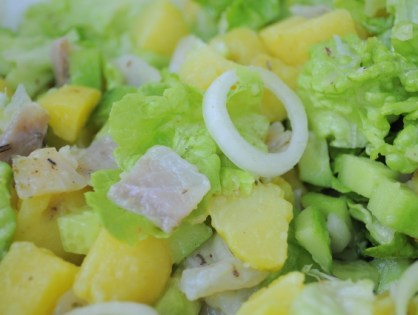 Salade de lieu noir fumé