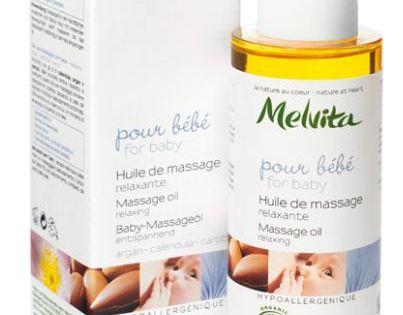 Pomponette a testé l'huile de massage bio pour bébé de Melvita