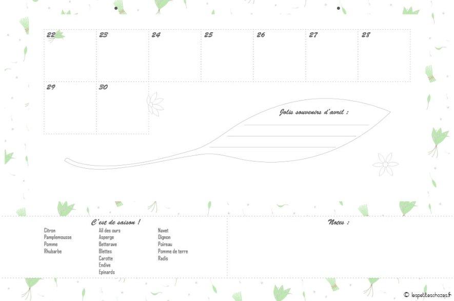 Avril page 1. Calendrier familial septembre 2018 à août 2019. A imprimer. Les petites choze2