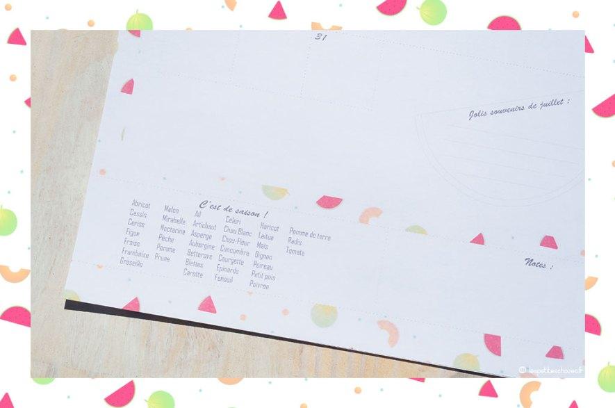 Liste de fruits et légumes de saison. Calendrier familial septembre 2018 à août 2019. A imprimer. Les petites chozes