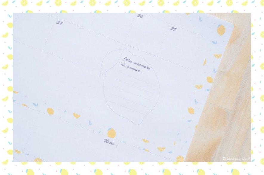 Les jolis souvenirs. Calendrier familial septembre 2018 à août 2019. A imprimer. Les petites chozes