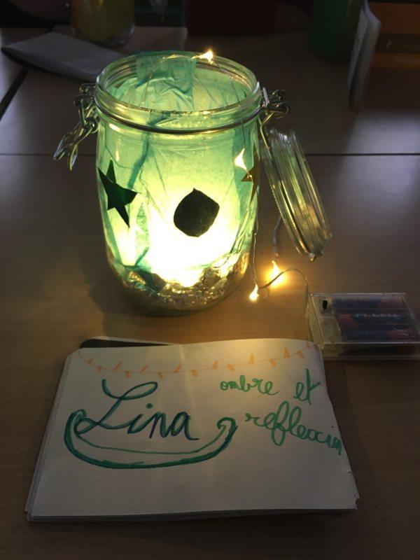 création lumineuse réalisée par un enfant