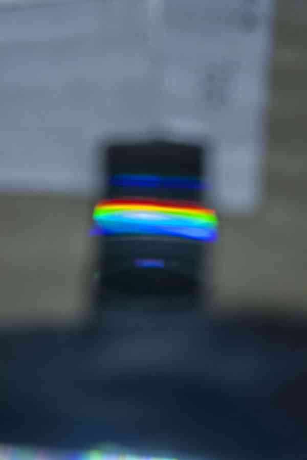 les constituants du spectre lumineux décomposés par le spectromètre