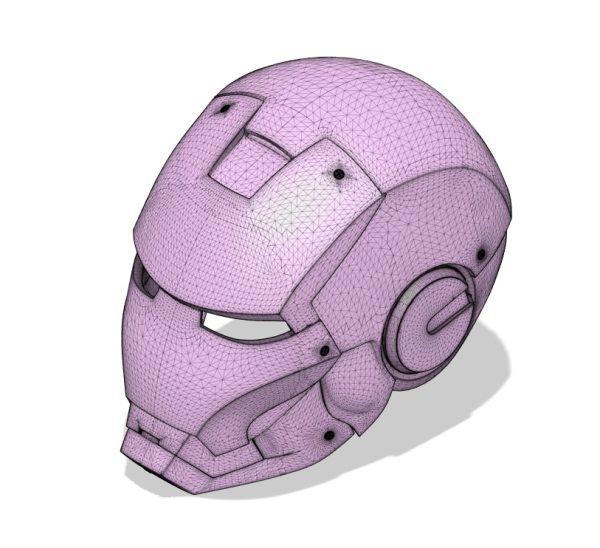 casque d'armure de super hero conçu en dessin 3D