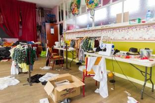 La salle de danse transformée en atelier