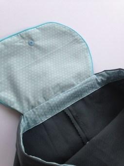 sac à dos personnalisé : toile grise - tissu étoilé