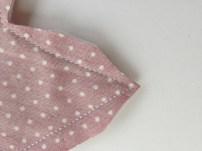 ... L'angle aigu après : il faut couper du tissu de chaque côté de l'angle, un peu en biais.