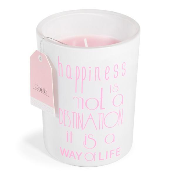 bougie en verre happiness