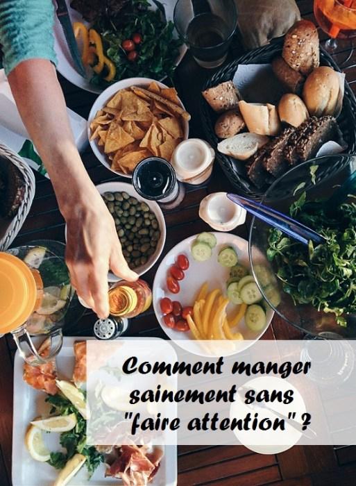 comment manger sainement facilement