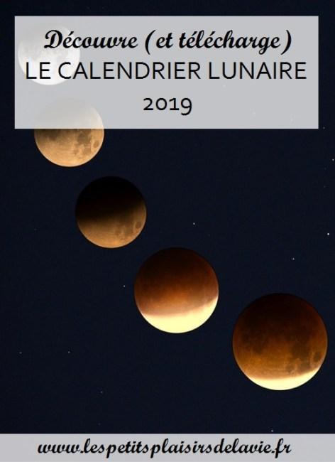 calendrier lunaire 2019