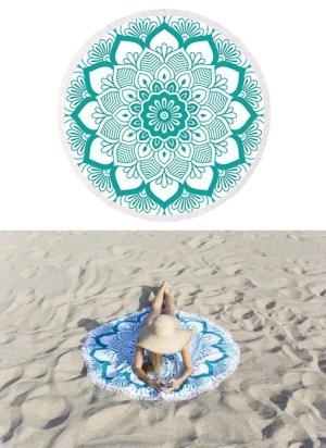 idées cadeaux spiritualité la-serviette-ronde-modele-lotus