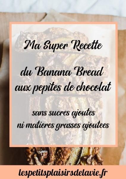 recette banana bread aux pépites de chocolat