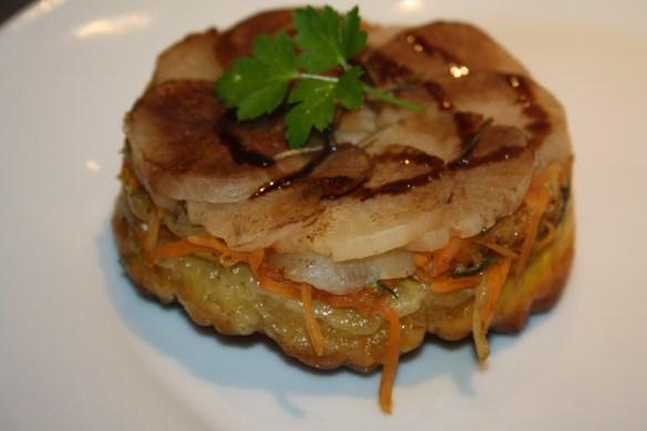 Tatins de navet carottes courgettes au chèvre 1