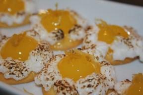 Tartelettes citron mini demi sphères