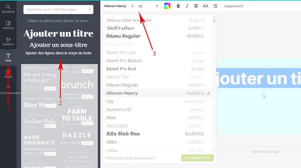 Canva : modifier un bloc de texte
