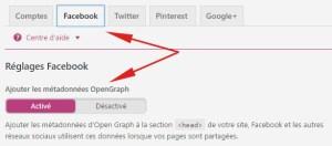activer les données OpenGraph