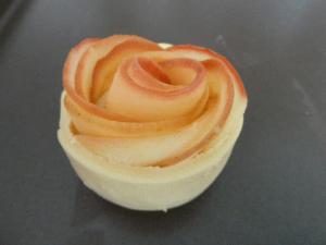 roses feuilletées aux pommes avant cuisson