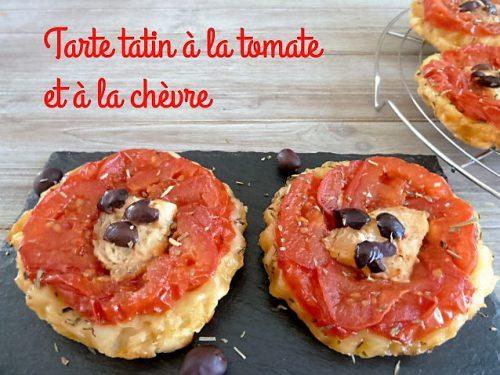 recette de la tarte tatin tomate et chèvre