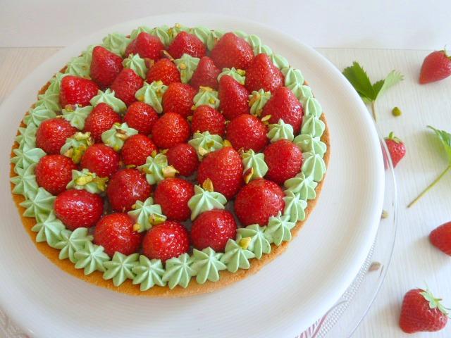 tarte aux fraises pistache